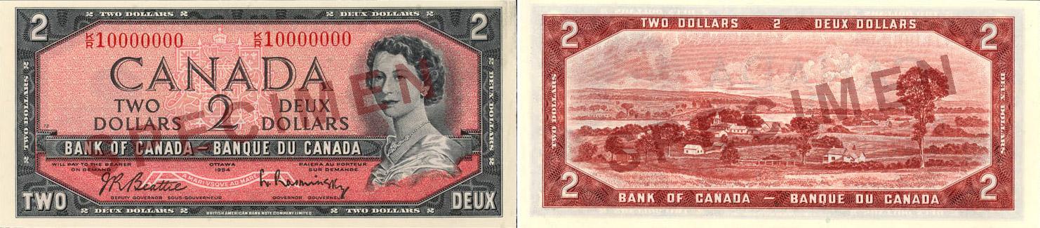 1954 - 2 dollars