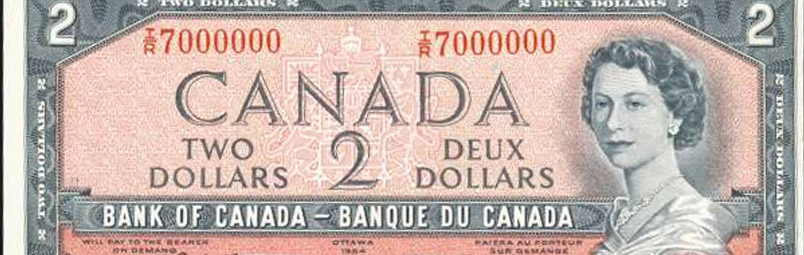 Million - Special serial number on canadian banknotes
