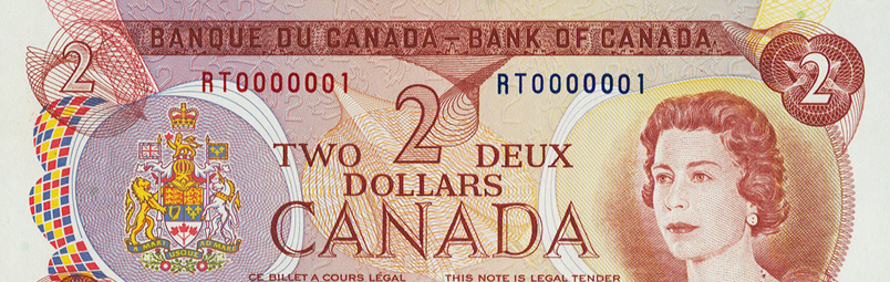 Low number (1) - Special serial numbers - Canadian Banknotes