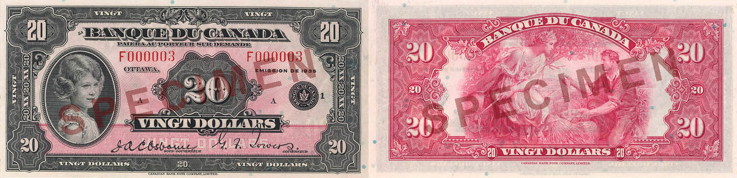 20 dollars 1935 - Canada Banknote