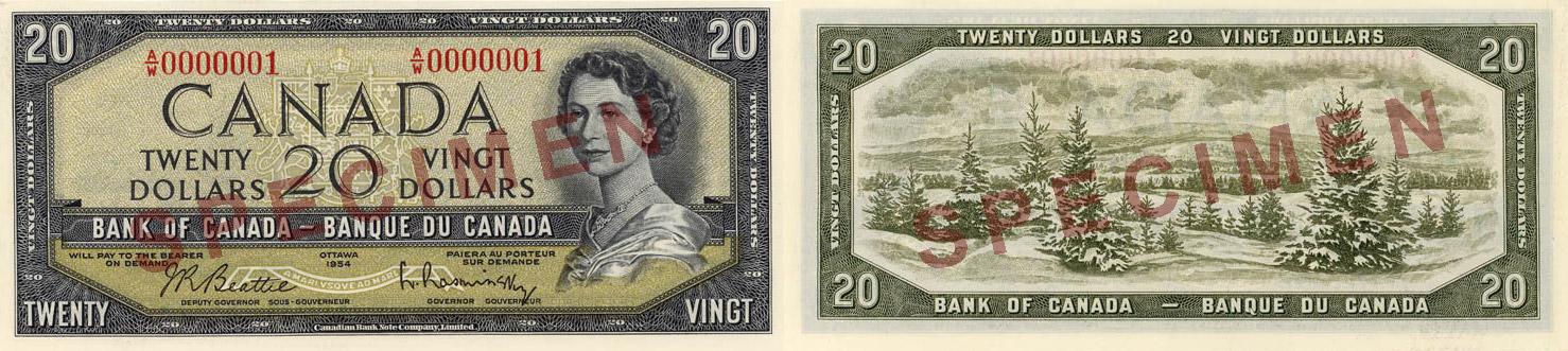 1954 - 20 dollars