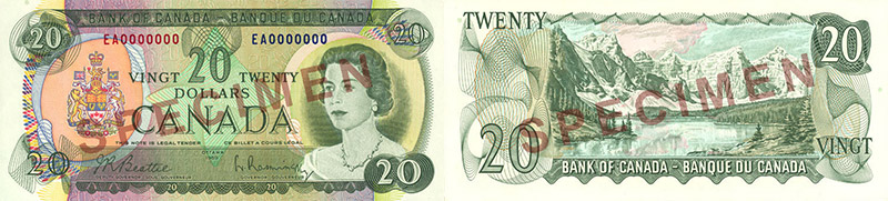 20 dollars 1969 to 1975 values and prices
