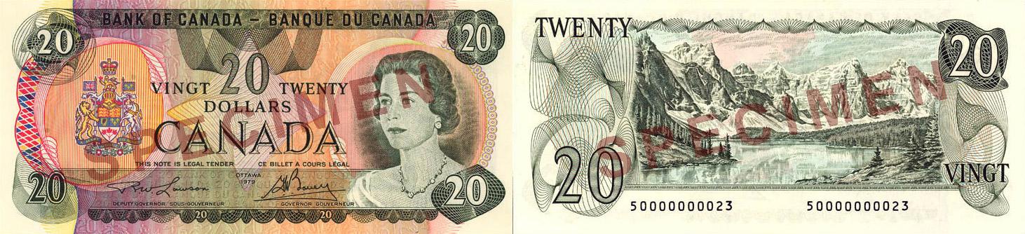 20 dollars 1979 - Canada Banknote
