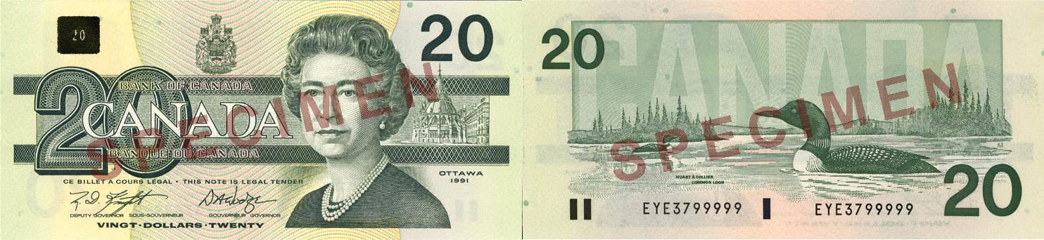 1986 - 20 dollars