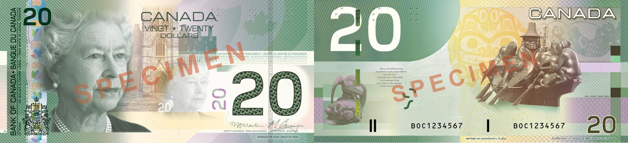 20 dollars 2004-2006 - Billet de banque du Canada