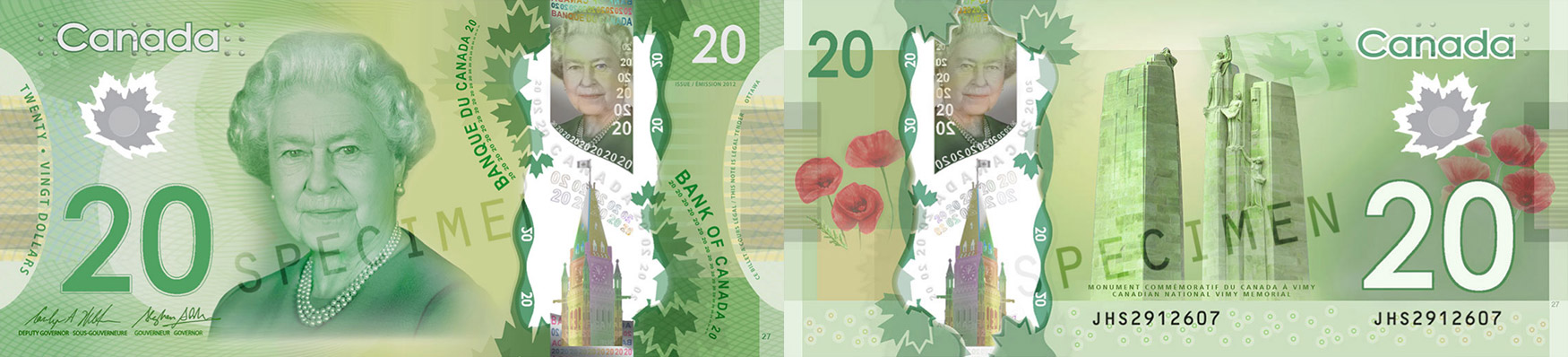 20 dollars 2011 to 2016 - Canada Banknote