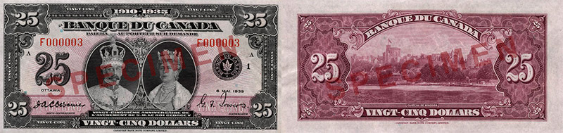 25 dollars 1935 - Canada Banknote