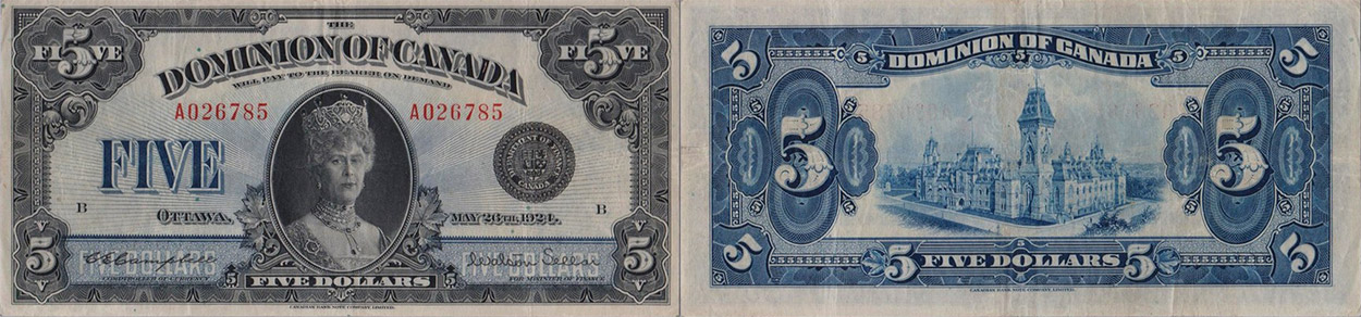 5 dollars 1924