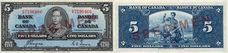 5 dollars 1937