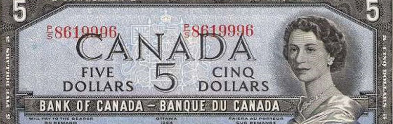 Misplaced serial number - Errors and varieties - Canada Banknote