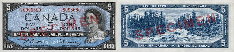 1954 - 5 dollars