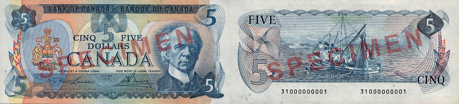 1979 - 5 dollars