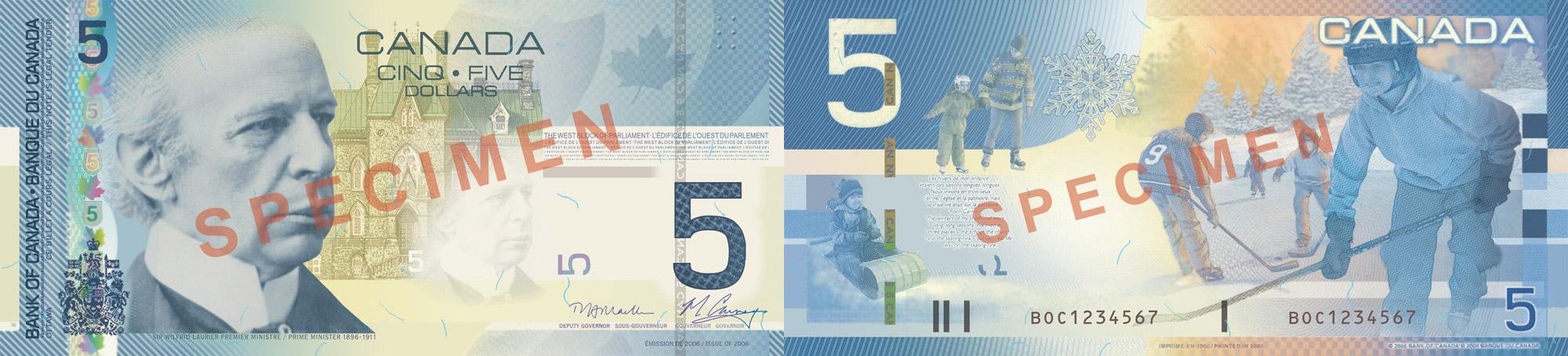 5 dollars 2004-2006 - Canada Banknote