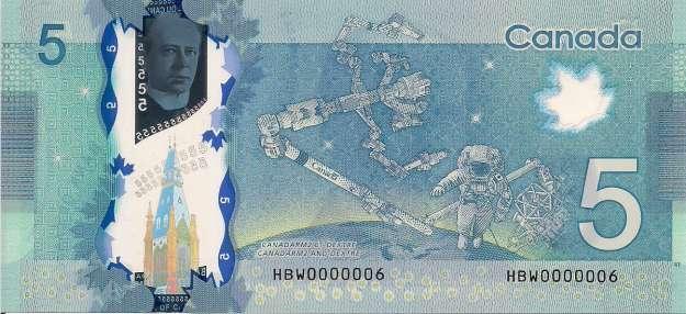 5 Canadian Dollars series 1986 Birds of Canada  exchange