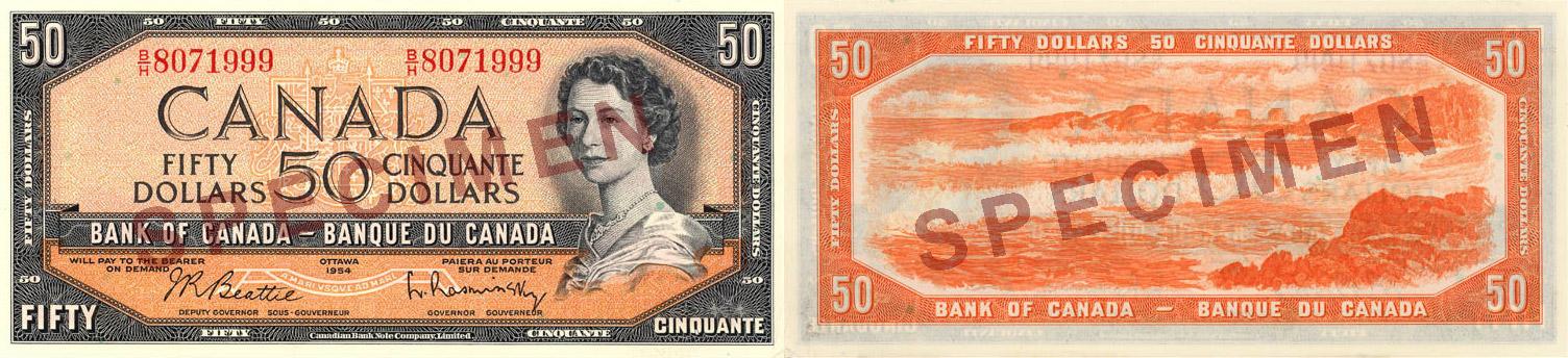1954 - 50 dollars