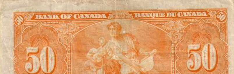 Out of register printing - Errors and varieties - Canada Banknote
