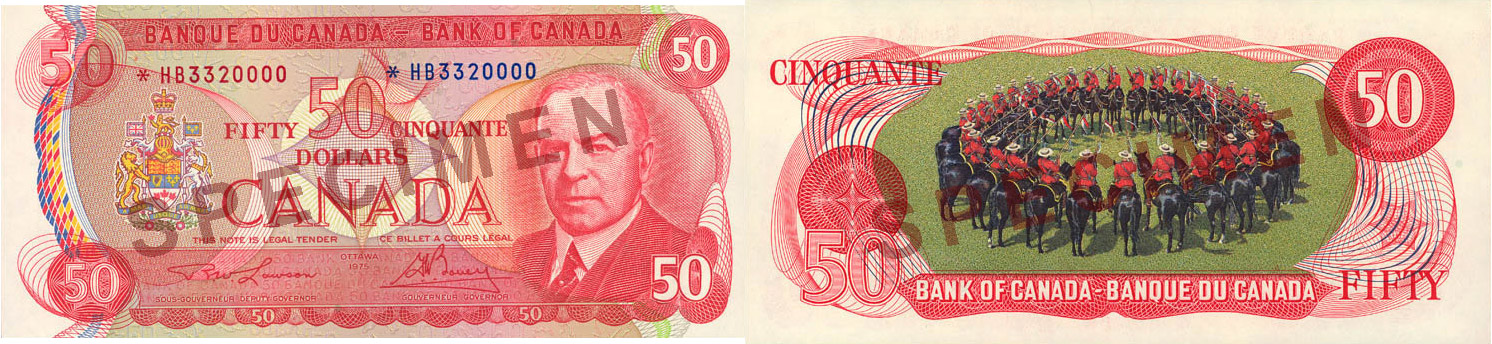 50 dollars 1969 to 1975 - Canada Banknote