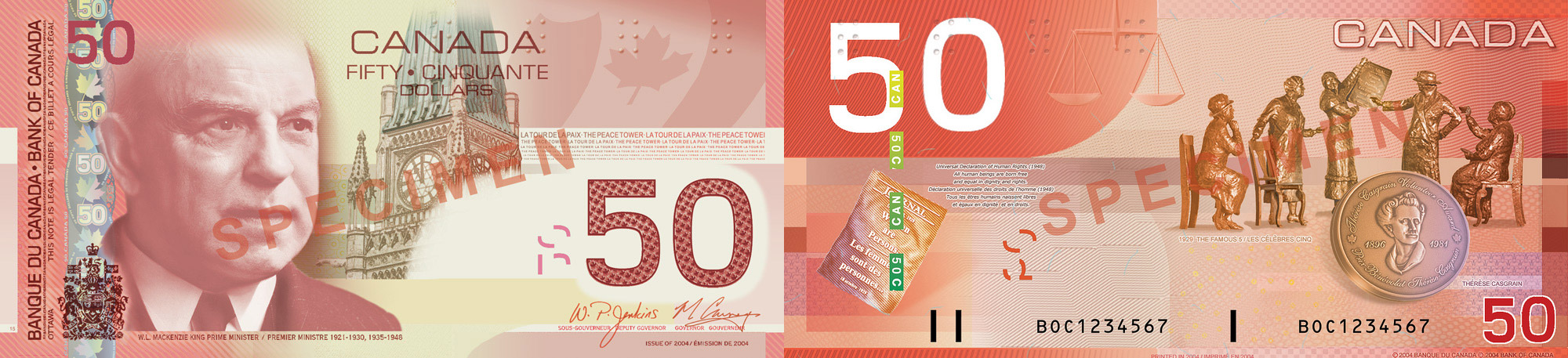 50 dollars 2004 to 2006 - Canada Banknote