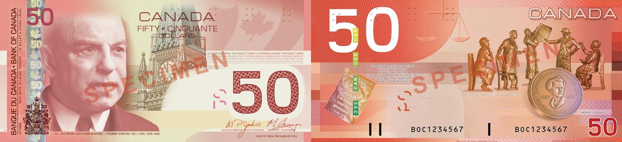 50 dollars 2004-2006 - Canada Banknote