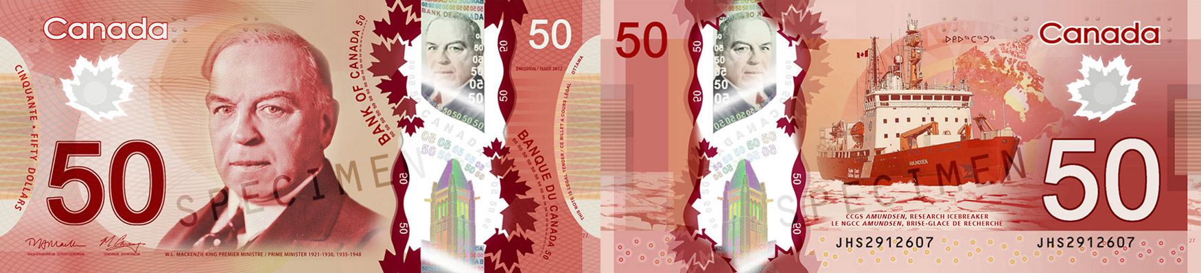 50 dollars 2011 to 2016 - Canada Banknote