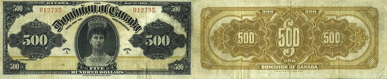 500 dollars 1911