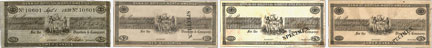 Bank of British North America banknotes of 1838