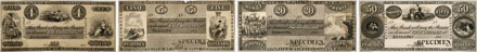 Bank of British North America banknotes of 1849