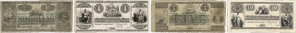 Bank of British North America banknotes of 1854
