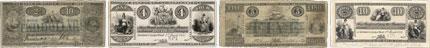 Bank of British North America banknotes of 1854
