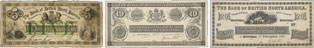 Bank of British North America banknotes of 1865
