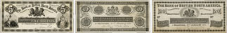 Bank of British North America banknotes of 1871