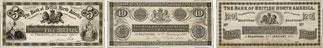 Bank of British North America banknotes of 1871