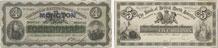 Bank of British North America banknotes of 1872