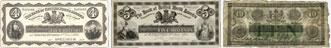 Bank of British North America banknotes of 1874