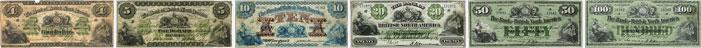 Bank of British North America banknotes of 1877