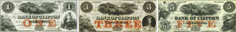 Bank of Clifton banknotes of 1859