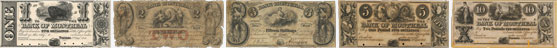 Bank of Montreal banknotes of 1844