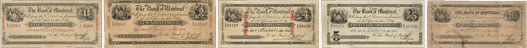 Bank of Montreal banknotes of 1852