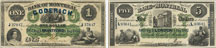 Bank of Montreal banknotes of 1862