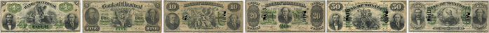 Bank of Montreal banknotes of 1871