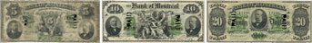 Bank of Montreal banknotes of 1882
