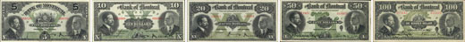 Bank of Montreal banknotes of 1914