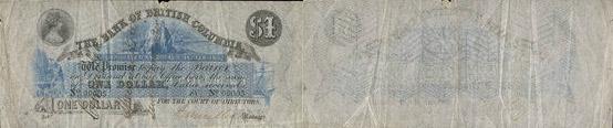 Bank of Brantford banknotes values - 1 dollar 1875
