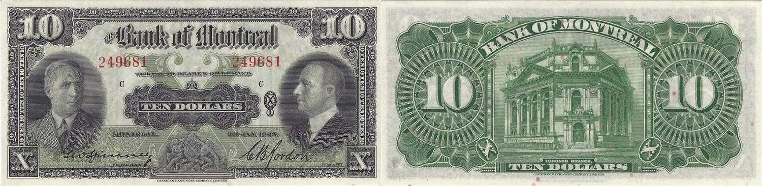 10 dollars 1938 - Dominion of Canada - Canada