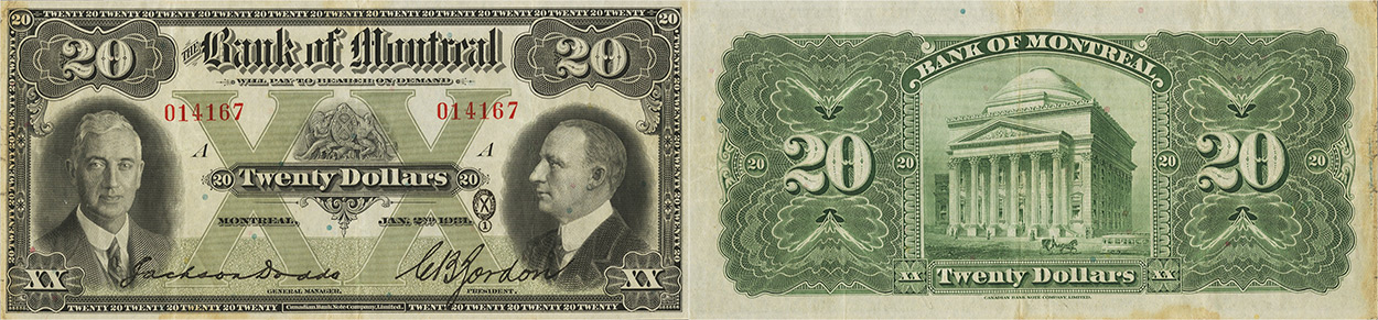20 dollars 1931 - Bank of Montreal banknotes