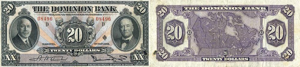 20 dollars 1931 - Dominion Bank banknotes