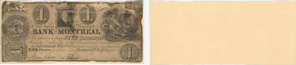 1 dollar 1836 - Bank of Montreal banknotes