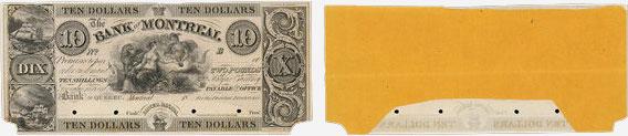 10 dollars 1839 - Bank of Montreal banknotes