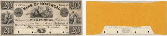 20 dollars 1839 - Bank of Montreal banknotes