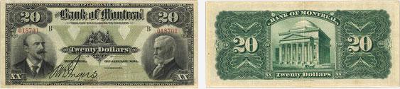 20 dollars 1911 - Bank of Montreal banknotes